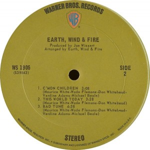 earth wind and fire 1970 label 1