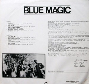 blue magic - 1974 - blue magic back cover
