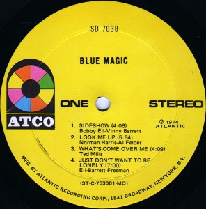 blue magic - 1974 - blue magic label 1