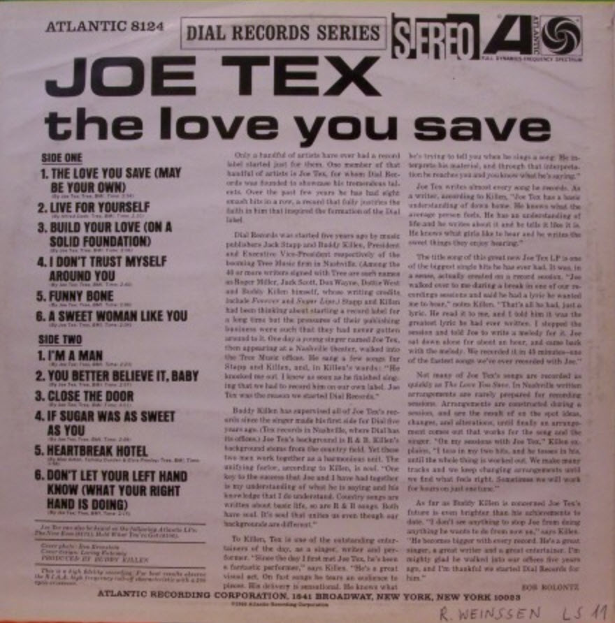 Joe Tex The Love You Save May Be Your Own