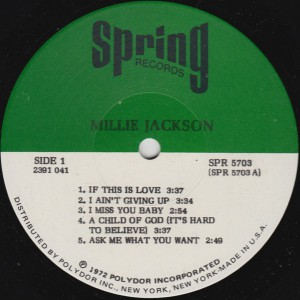 Millie Jackson label1