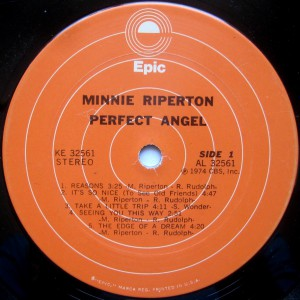 Minnie Riperton Perfect Angel label 1