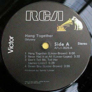 Odyssey  Hang Together Label A