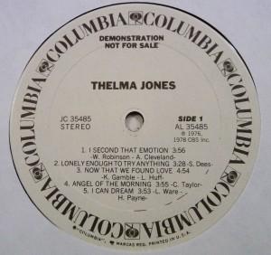 Thelma Jones 1978 label 1