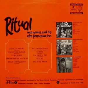 nico gomez & his afro percussion inc. - ritual back