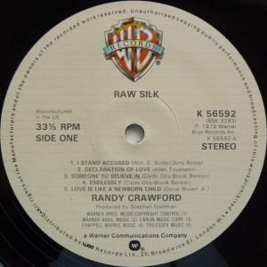 Randy Crawford Raw Silk label1