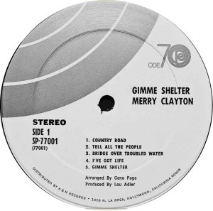 Merry Clayton Gimme Shelter label