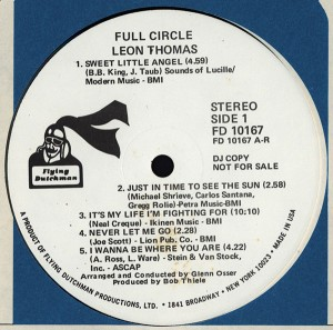 Leon Thomas Full Circle label 1