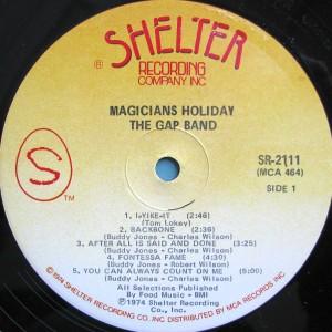 The Gap Band Magicians Holiday label 1