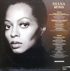 Diana Ross 1976 lp back cover