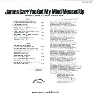 James Carr You've Got My Mind Messed Up back