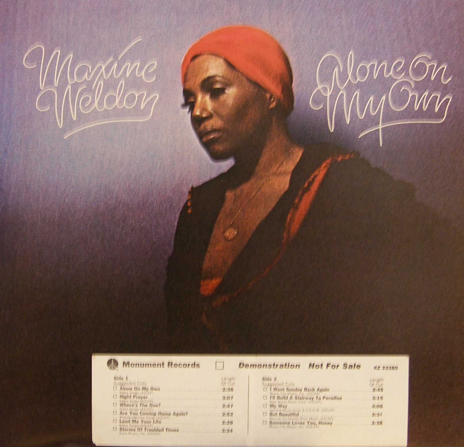 Maxine Weldon - Alone On My Own