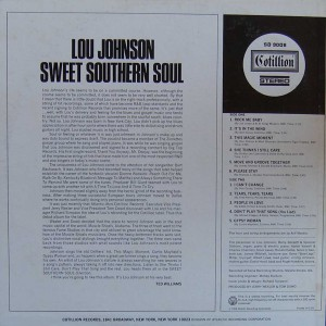 Lou Johnson- Sweet-Southern soul-back