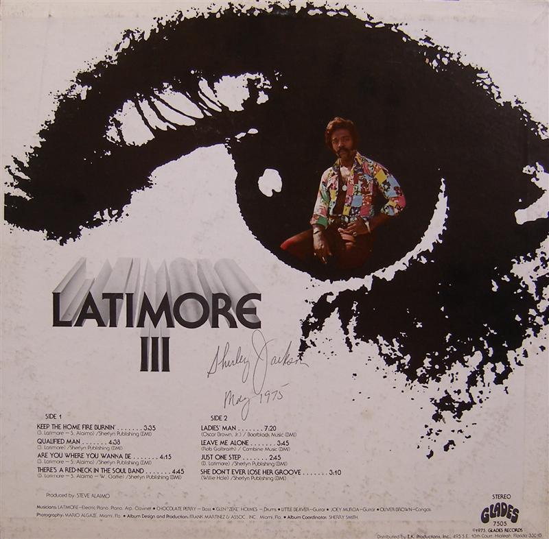 Latimore 1975 Latimore Iii Plus Early Discography