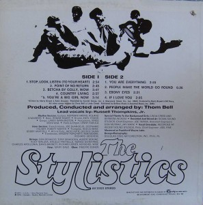 The-Stylistics - 1971- st - back cover