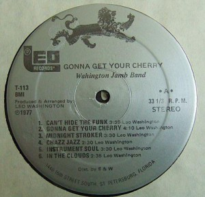 Washington Jamb Band – 1977 – Gonna Get Your Cherry label1