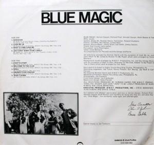 blue magic - 1974 - blue magic back cover