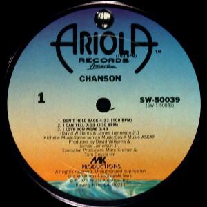 Chanson 1978 Chanson label 1