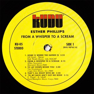 Esther Phillips - From A Whisper To A Scream label 1