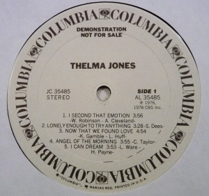 Thelma Jones 1978 label 1