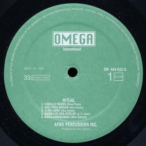 nico gomez & his afro percussion inc. - ritual label 1