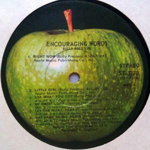 Billy Preston - encouraging words label 1
