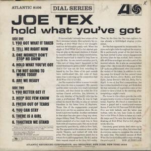 Joe Tex Hold What You've Got back