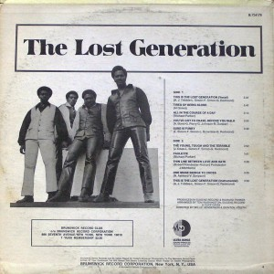 LOST GENERATION, THE-YOUNG, TOUGH AND TERRIBLE back