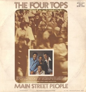 The Four Tops Main Street People back