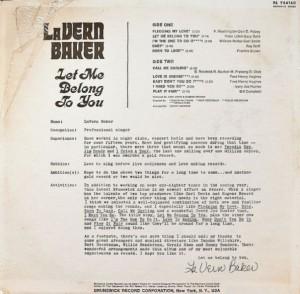 Lavern Baker Let Me Belong to You back