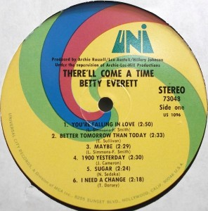 Betty Everett There'll come a time label 1