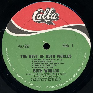 The Best Of Both Worlds - I Want The World To Know label 1