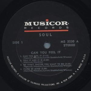 s.o.u.l can you feel it label 1