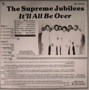 The Supreme Jubilees - 1980 - It'll All Be Over back