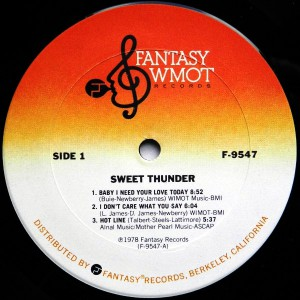 sweet thunder label a