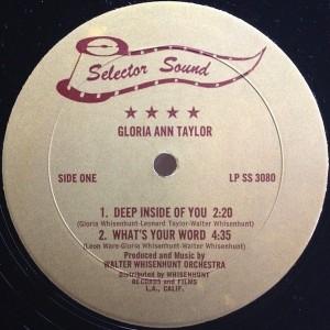Gloria Ann Taylor deep inside you label 1
