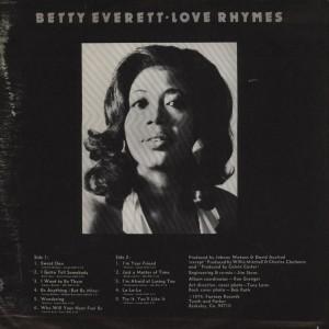 Betty Everett love rhymes back