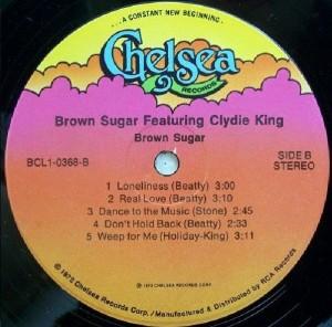 Brown Sugar Featuring Clydie King Label B