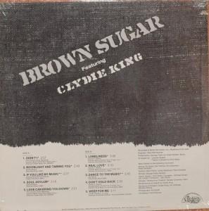 Brown Sugar Featuring Clydie King back