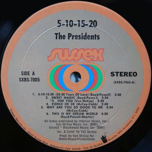 The Presidents - 5, 10, 15, 20, 25, 30 Years of Love label 1