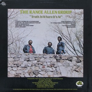The Rance Allen Group - Truth Is Where It's At back
