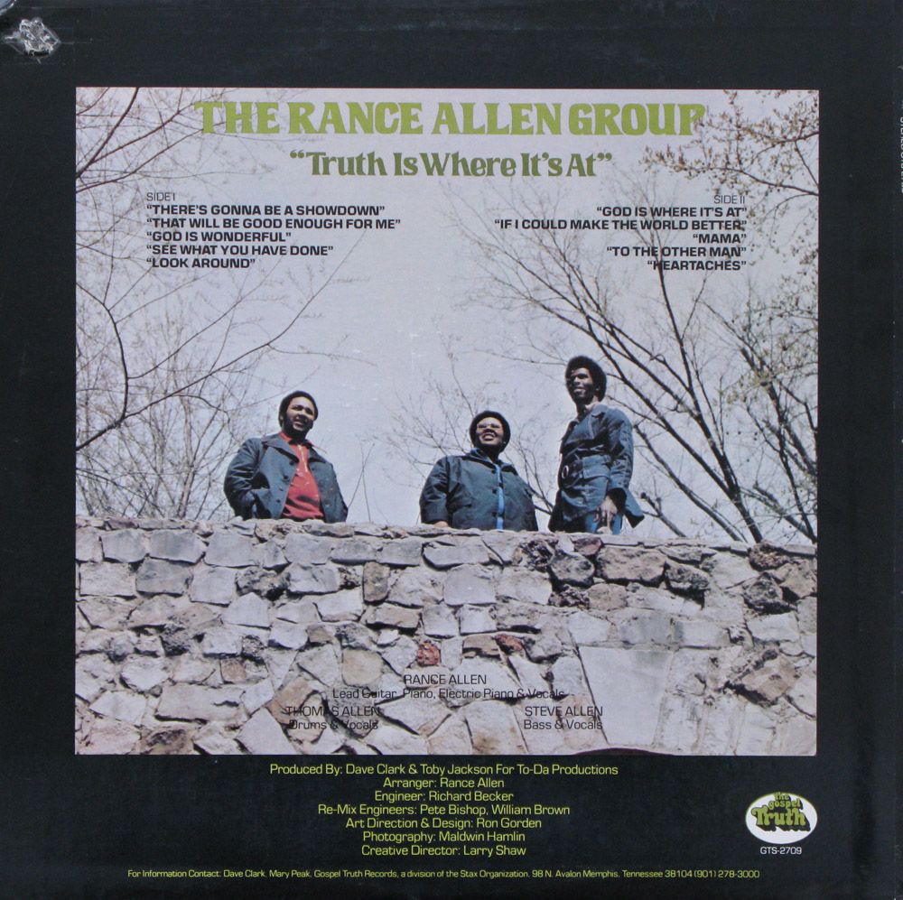 The Rance Allen Group - Ain't No Need Of Crying