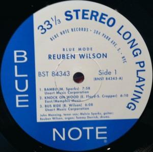 Reuben Wilson Blue Mode side 1