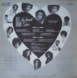 Alex Brown - 1970 - In Search Of Love BACK