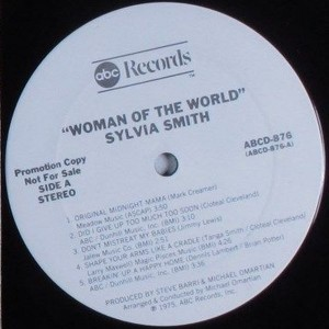 Sylvia Smith - 1975 - woman of the world label