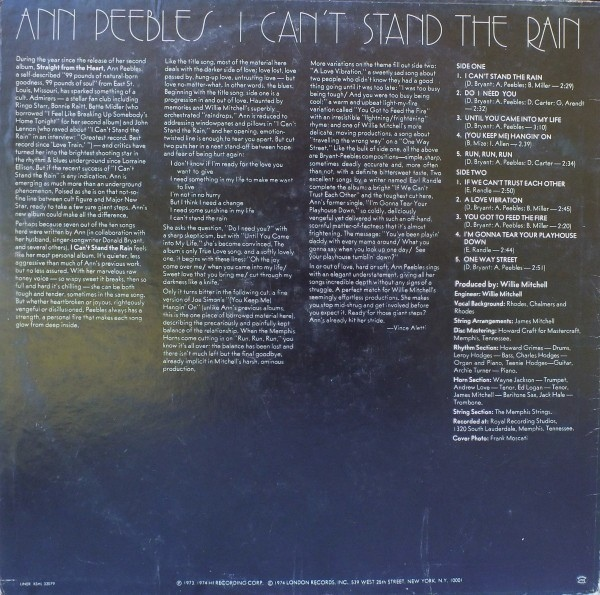 Ann Peebles - 1974 - I Can't Stand The Rain Free Download | Funk My Soul