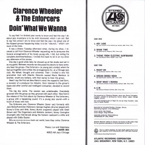 Clarence Wheeler & The Enforcers Doin' What We Wanna Back