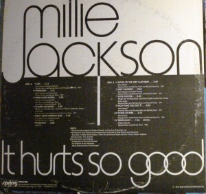 Millie Jackson It Hurts So Good back