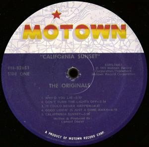 The Originals California Sunset Label A
