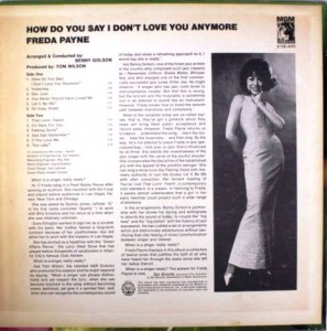 freda payne How Do You Say I Don't Love You Anymore back
